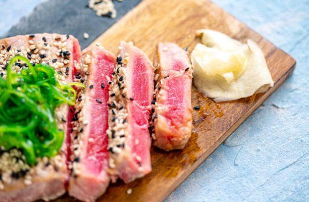 How To Grilled Tuna Steak Recipe Bobby Flay