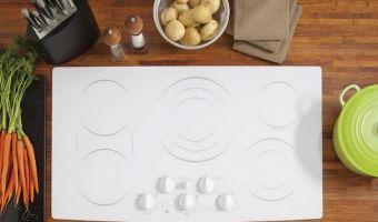 white induction cooktop