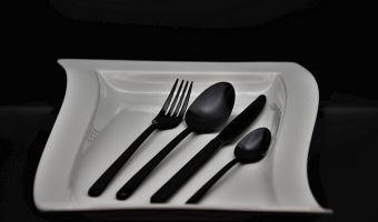 best Matte Black Silverware Set